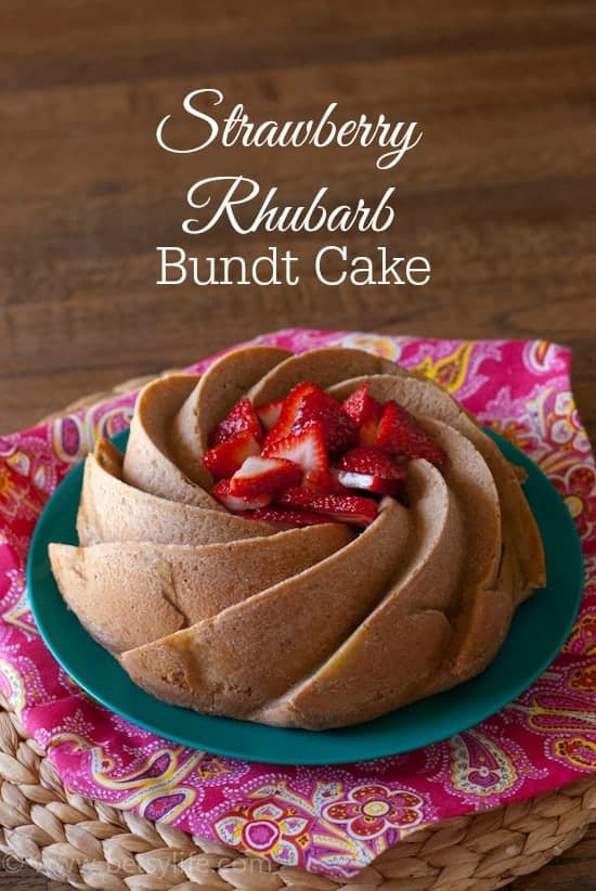 Strawberry Rhubarb Bundt Cake | Betsyilfe.com