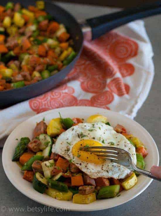 Summer Vegetable and Sausage Skillet