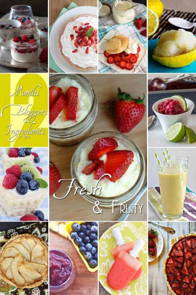 Fresh and Fruity Summer Recipes! #12bloggers