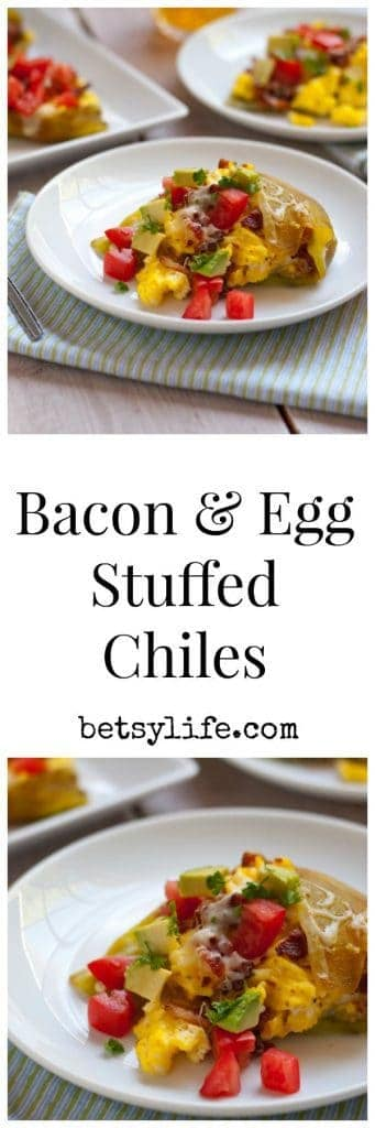 Bacon and Egg Stuffed Chiles | Betsyilfe.com