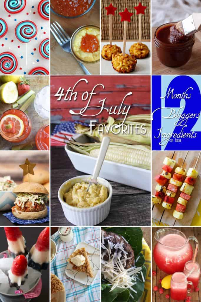 12 great 4th of July bbq recipes. Great recipes for your summer party!