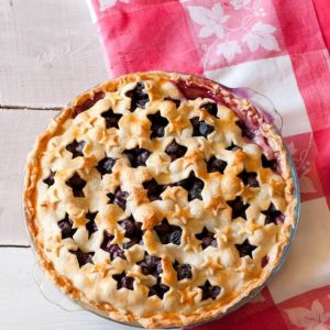 4th of July Dessert Recipe: Star Spangled Blueberry Pie