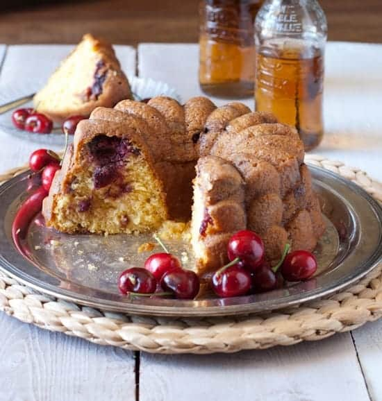 4 ingredient cherry cream soda bundt cake
