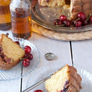 4 Ingredient Cherry & Cream Soda Bundt Cake