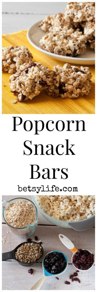 Popcorn Snack Bars. The ultimate back to school snack | Betsylife.com