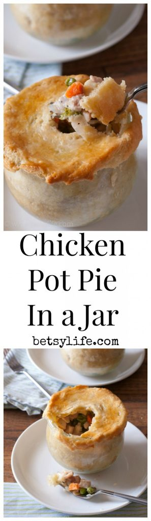 Chicken Pot Pie In A Jar.