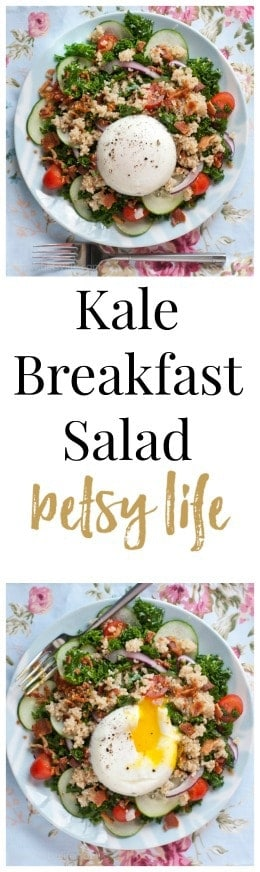 Bacon and Egg Kale Breakfast Salad