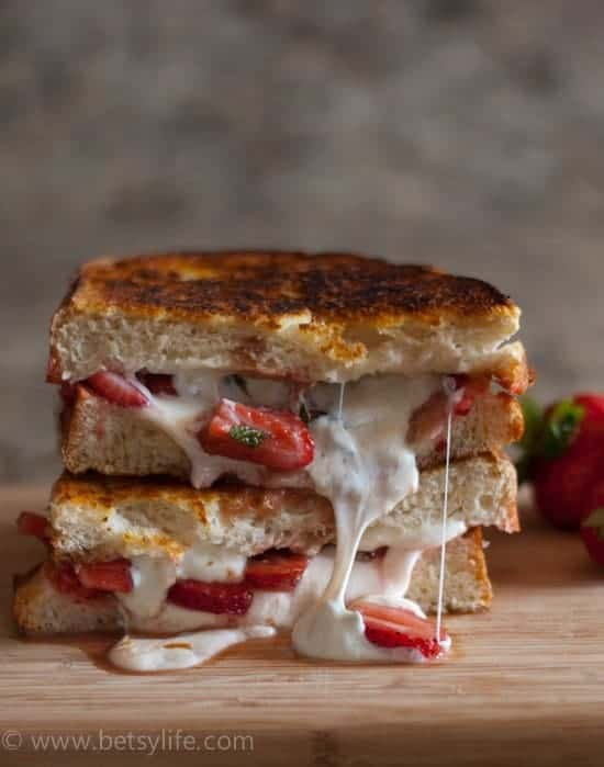 Strawberry Balsamic Grilled Cheese