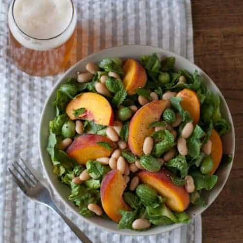 White Bean and Peach Salad