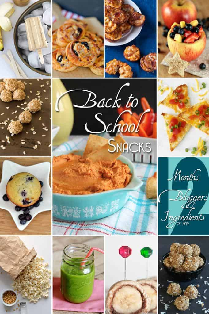 Collage of images of after school snack recipes