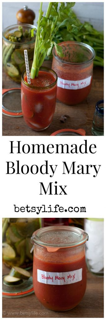 My favorite way to utilize my tomato bounty. Homemade bloody Mary mix!