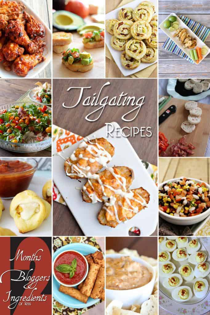 collage of images of 12 Great Tailgating Game Day Recipes