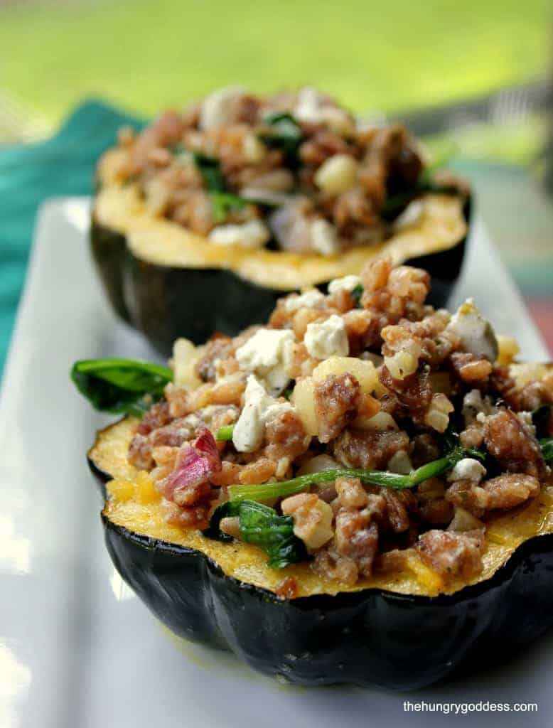 Roasted Stuffed Acorn Squash and The Greatest Holiday Side Dish Recipes Ever | Betsylife.com