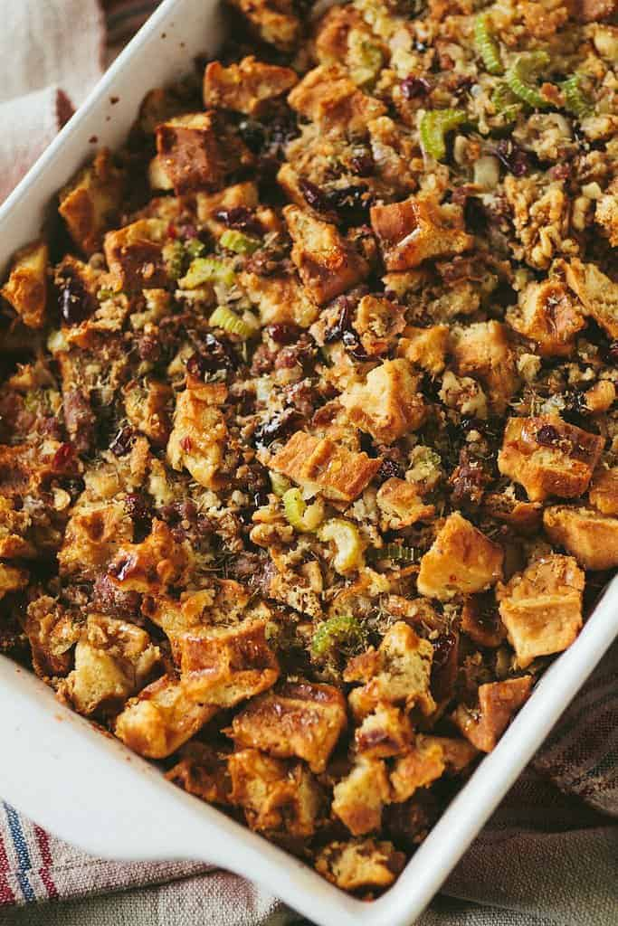 Waffle, Maple & Sausage Stuffing and The Greatest Holiday Side Dish Recipes Ever | Betsylife.com