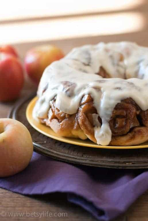 Apple Cider Cinnamon Roll Bundt Cake | Betsyilfe.com
