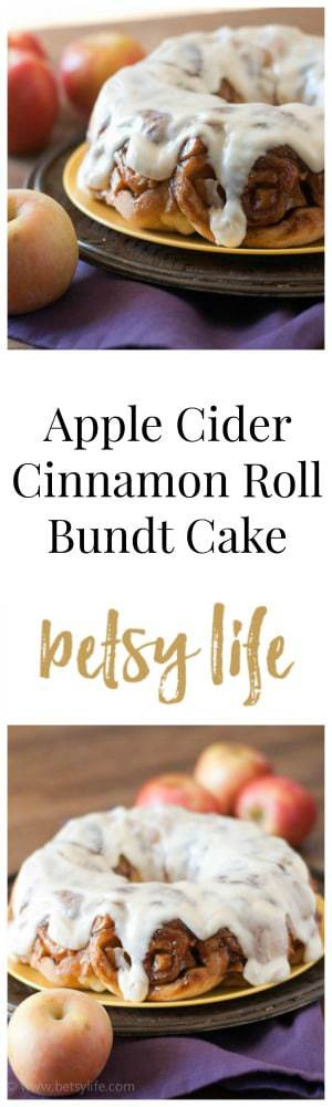 Apple Cider Cinnamon Roll Bundt Cake