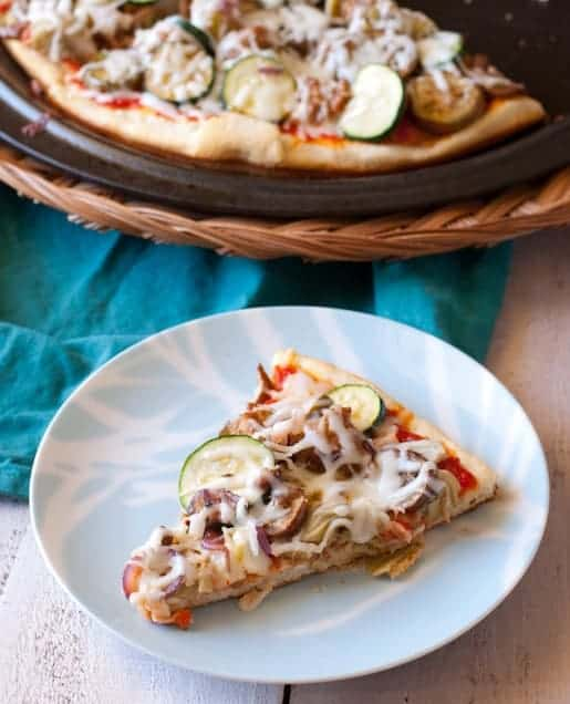 Ratatouille Pizza Recipe with Fresh Veggies and Sausage | Betsylife.com