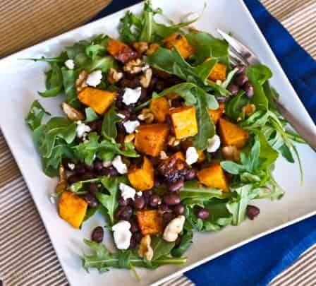 Butternut Squash and Smoky Black Bean Salad and The Greatest Holiday Side Dish Recipes Ever | Betsylife.com