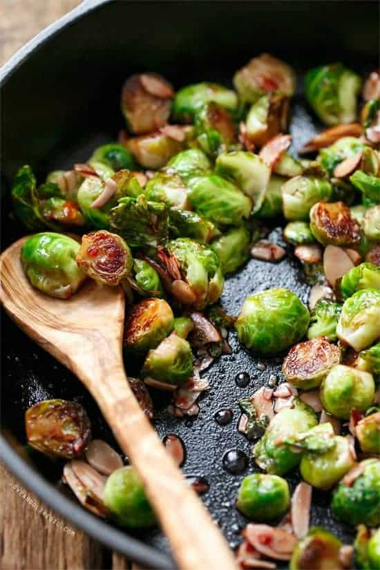 Tart Cherry Glazed Brussels Sprouts and The Greatest Holiday Side Dish Recipes Ever | Betsylife.com