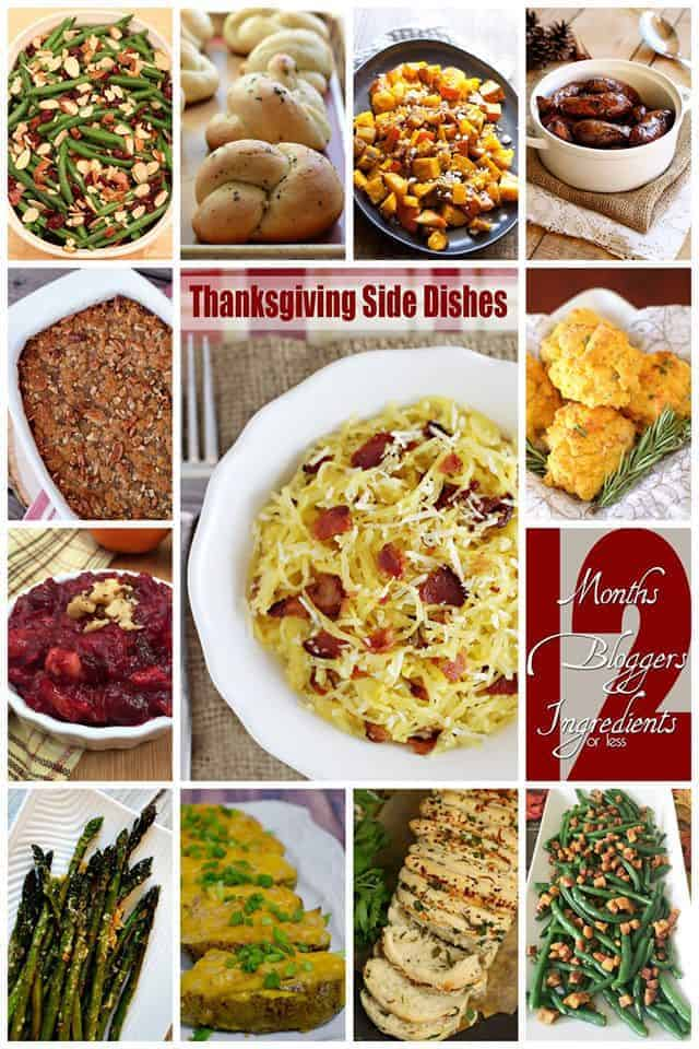 Collage of 12 awesome Thanksgiving Side Dishes |Betsylife.com #12bloggers
