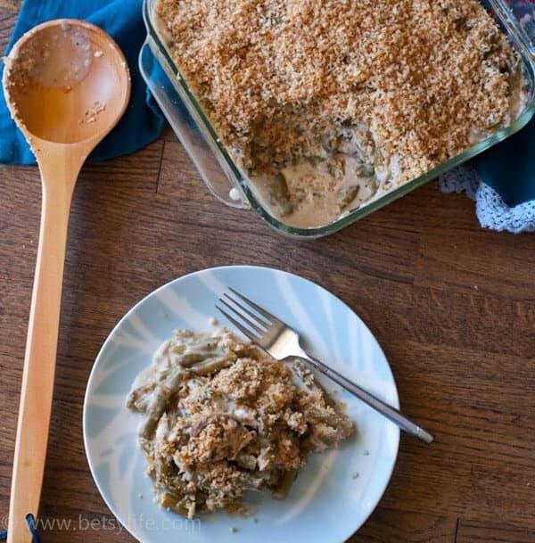 Goat Cheese Green Bean Casserole |Betsylife.com