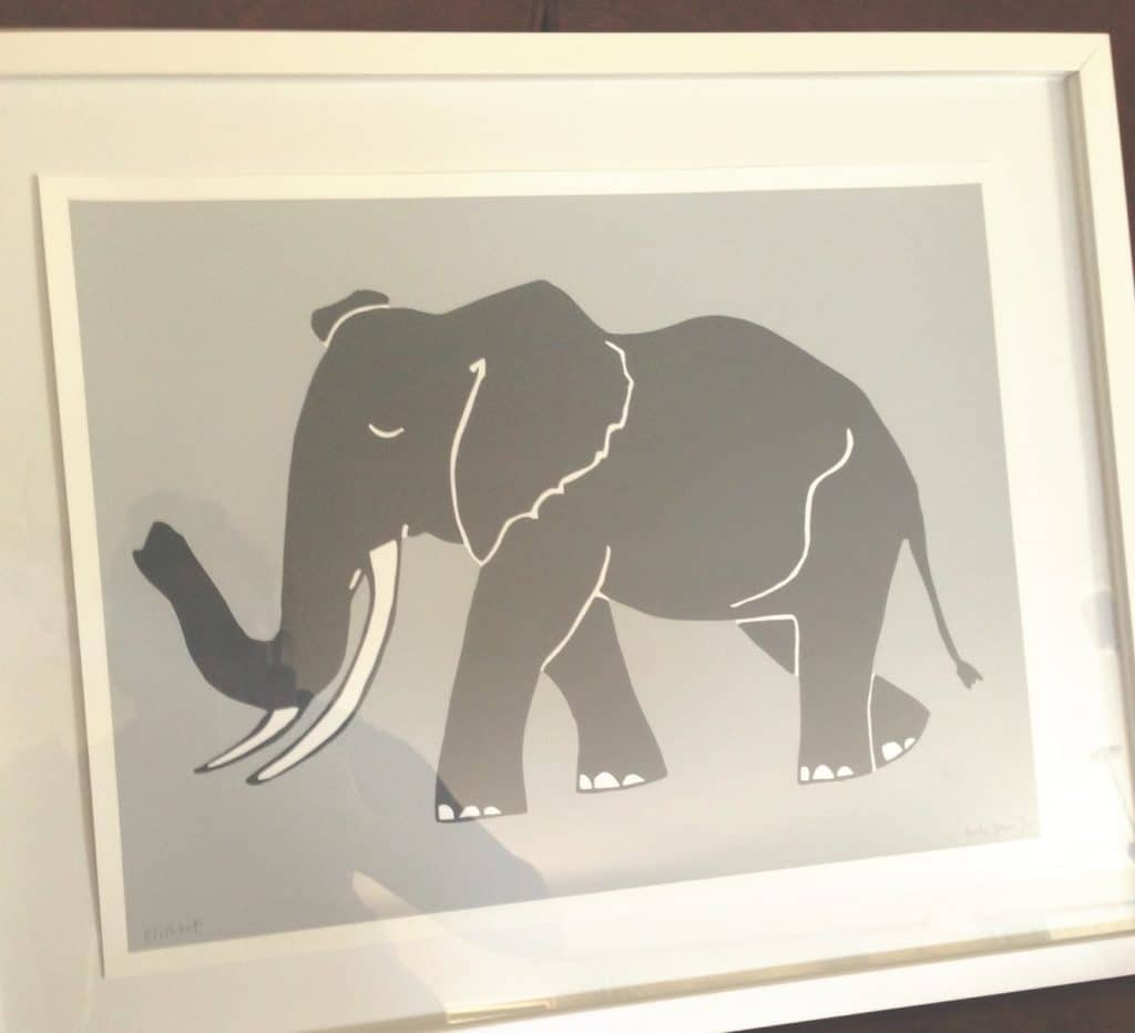 The Butcher Press Elephant Print
