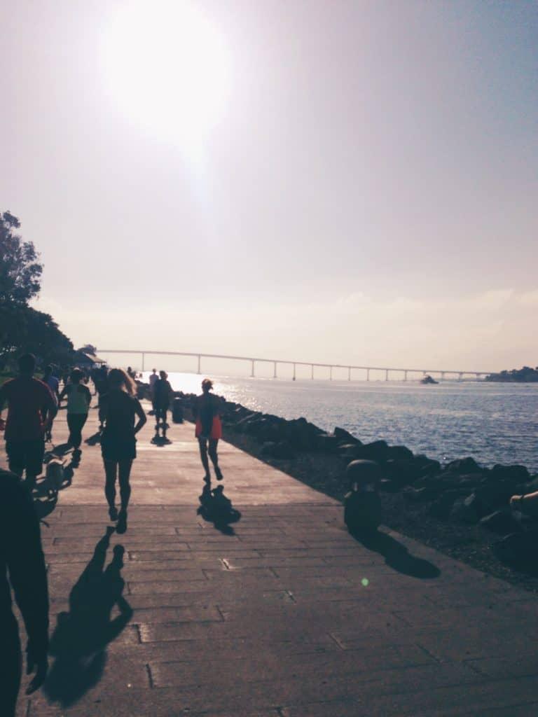 San Diego Bay. Coronado Bridge