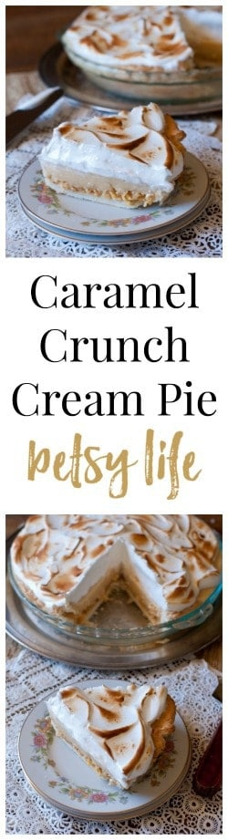 Caramel Crunch Cream Pie