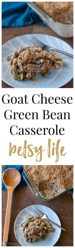 Goat Cheese Green Bean Casserole