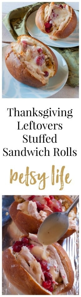 Thanksgiving Leftovers Stuffed Sandwich Rolls