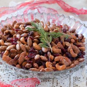 Vanilla Mixed Nuts with Cranberries