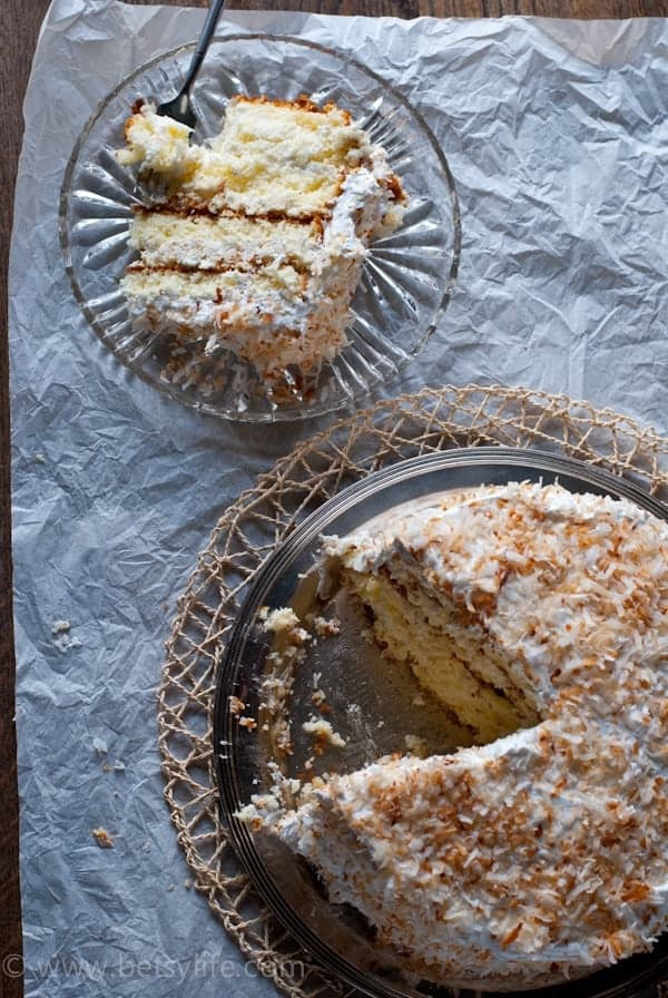 Southern Style Coconut Cream Cake. The Greatest Cake of All Time |Betsylife.com