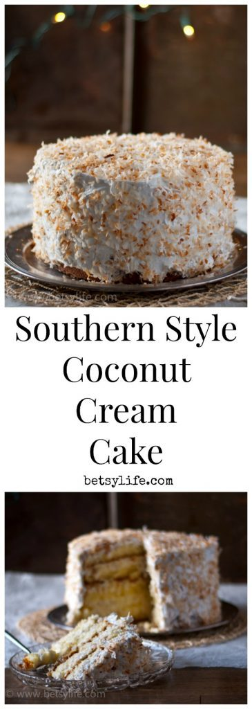 Southern Style Coconut Cream Cake