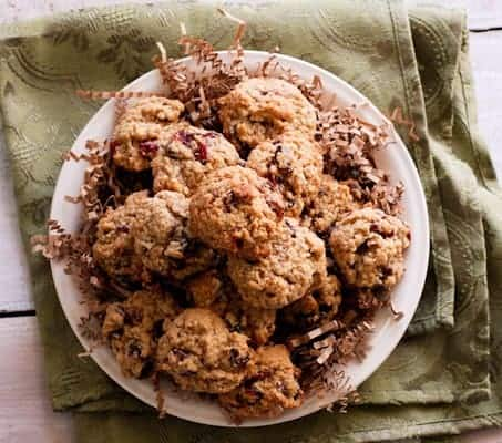 Soft Batch Oatmeal Cranberry Cookies