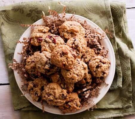 Soft Batch Oatmeal Cranberry Cookies