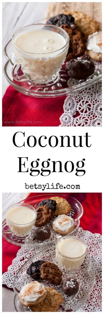 Coconut Eggnog! An awesome tropical twist on a holiday classic.