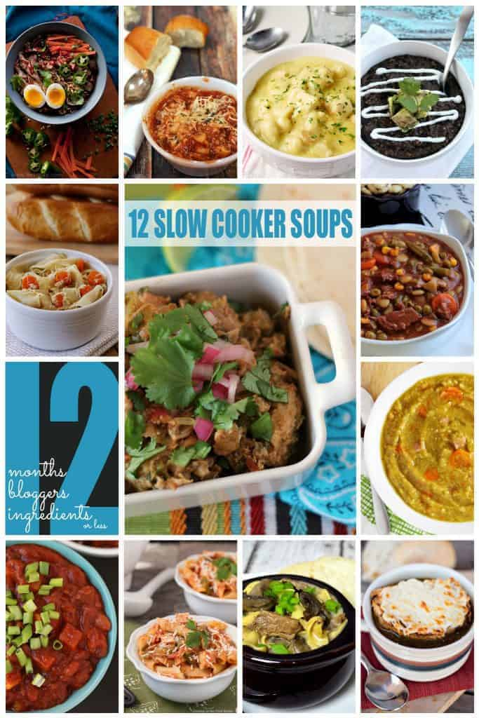 12 slow cooker soup recipes | Betsylife.com #12bloggers