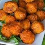 plate of orange quinoa bites