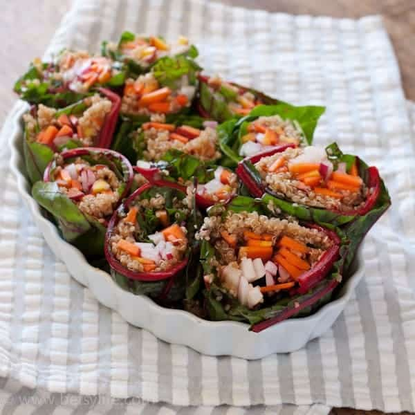 Quinoa and Chard Fresh Spring Rolls
