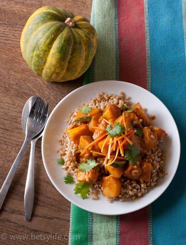 Vegetarian Squash Curry