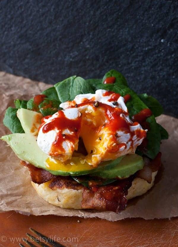 Cheesy Potato Pancake Eggs Benedict |Betsylife.com