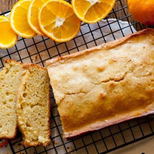 Almond Orange Vanilla Pound Cake