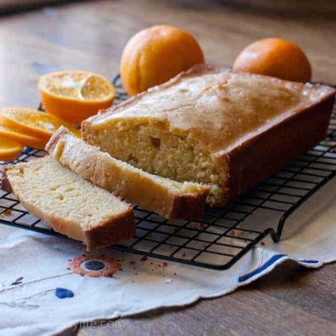 Almond Orange Vanilla Pound Cake