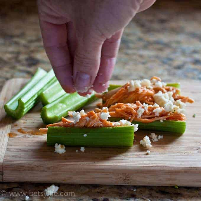 Buffalo Chicken & Celery Appetizer