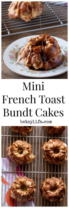 Mini French Toast Bundt Cakes