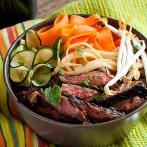 Hoisin Grilled Flank Steak Noodle Bowl