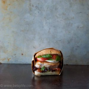 Caprese Grilled Chicken BLT Sandwich