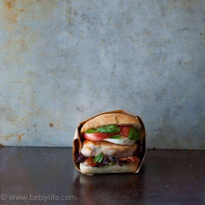Chicken Caprese BLT Sandwich