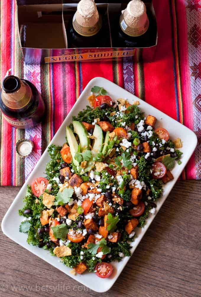Vegetarian Kale Taco Salad