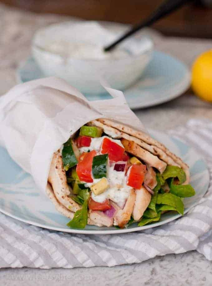 chicken and vegetable wrap with ranch dressing